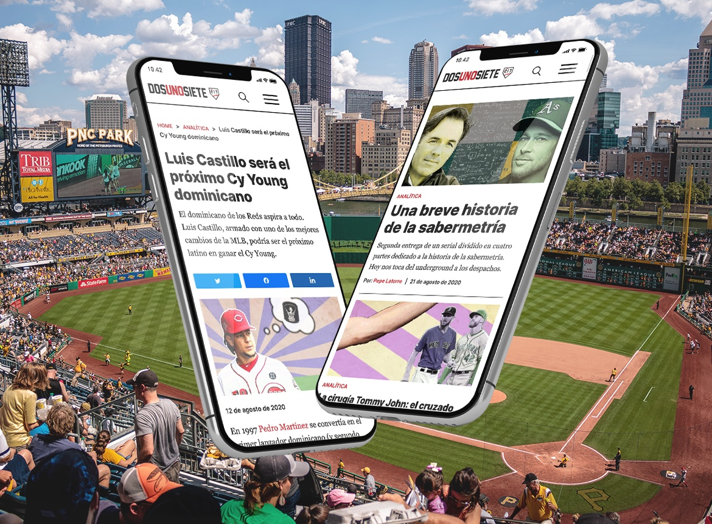 Web DosUnoSiete beisbol noticias