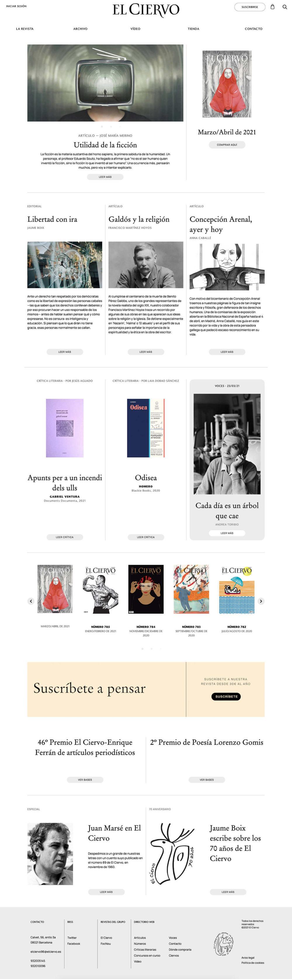 El Ciervo full website